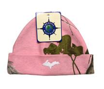 Newborn Camo Hat - Pink