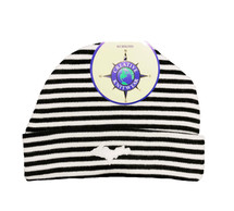Newborn UP Hat - Black & White Stripe