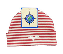Newborn UP Hat - Red & White Striped