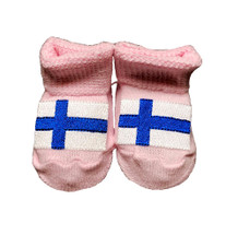 Newborn Finnish Flag Booties - Pink