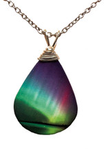 Rainbow Teardrop Necklace