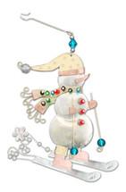Frosty Skier Ornament
