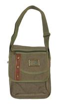 "12"" Green Canvas Bag 3968"