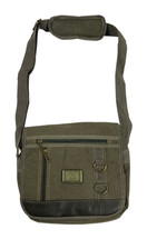 "13"" Green Canvas Shoulder Bag 3940"