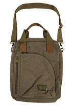 "15.5"" Lt. Brown Canvas Computer Bag 3983"