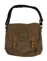 """16"""" Brown Canvas Shoulder Bag 3971"""