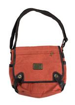 "12"" Coral Canvas Shoulder Bag 3949"