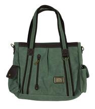 "13.5"" Sage Green Canvas Bag 3946"