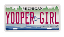 Yooper Girl Traditional License Plate