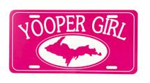 Pink Yooper Girl License Plate