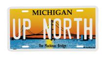UP NORTH Mackinac Bridge License Plate