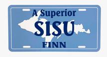 A Superior Finn License Plate