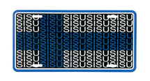 Finnish Flag SISU License Plate