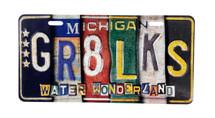 GR8LKS License Plate