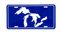 Great Lakes License Plate