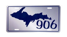 UP 906 Blue License Plate