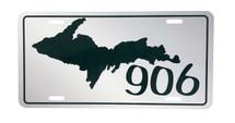 UP 906 Dark Green License Plate