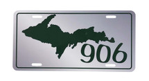 UP 906 Green License Plate