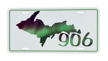 UP 906 Northern Lights License Plate