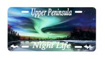 Upper Peninsula Night Life License Plate