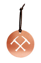 Mining Hammer Copper Ornament