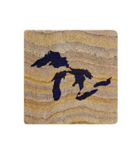 Great Lakes Sandstone Coaster - Blue