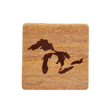 Great Lakes Sandstone Coaster - Rust