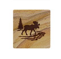 Moose Sandstone Coaster