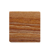 Plain Sandstone Coaster - Rust