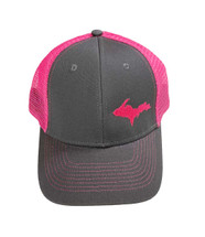Grey and Pink UP Map Ball Cap