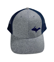 Heather Grey Navy UP Map Ball Cap