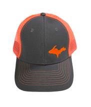 Grey and Orange UP Map Ball Cap