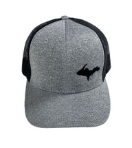 Heather Grey and Black UP Map Ball Cap