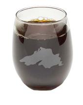 Lake Superior Stemless Wine Glass