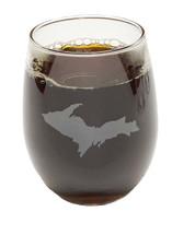 U.P. Stemless Wine Glass