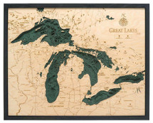 Depth Map - Great Lakes - Large