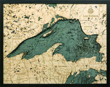 Depth Map - Lake Superior - Large