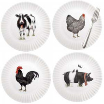 Farm House Animals Plate Set
