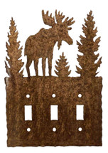 Triple - Moose Switch Plate Cover