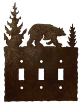 Triple - Bear Switch Plate Cover