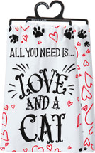 Love and a Cat Towel