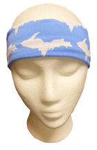 Aqua and White U.P. Headband