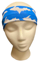 Blue and White U.P. Headband