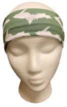 Green and White U.P. Headband