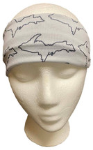 Grey and Black Outline U.P. Headband
