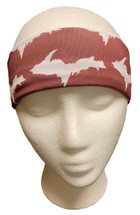 Maroon and White U.P. Headband