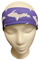 Purple and White U.P. Headband