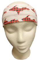 White and Buffalo Plaid U.P. Headband