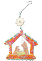 Rustic Nativity Ornament