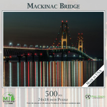 Mackinac Bridge at Night Puzzle